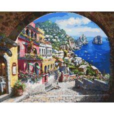 Живопись по номерам Лестница к морю, 40x50, Белоснежка