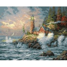 Картина по номерам Бушующая стихия, 40x50, Белоснежка