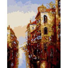 Живопись по номерам Канал в Венеции, 40x50, Белоснежка