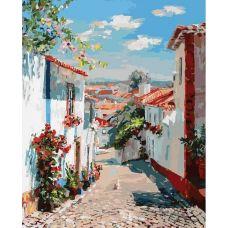 Живопись по номерам Улочка в португальском посёлке, 40x50, Белоснежка