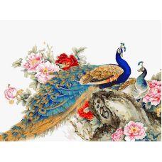 Живопись по номерам Китайские павлины, 30x40, Белоснежка