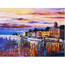 Раскраска Озеро Комо - Белладжио, Л. Афремов, 30x40, Белоснежка