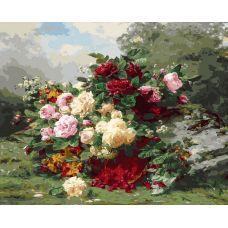 Картина по номерам Розы и ягодная корзинка, 40x50, Белоснежка