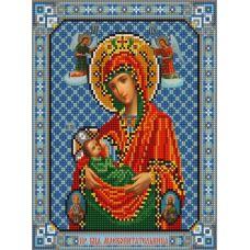 Ткань для вышивания бисером Богородица Млекопитательница, 20х25, Конек