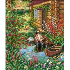 Набор для вышивания Летом в деревне, 31x26, Русская искусница
