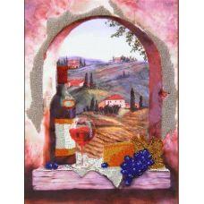 Вышивка бисером на габардине Аромат Тосканы, 40x30, Астрея