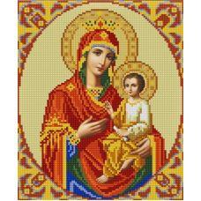Ткань для вышивания бисером Богородица Скоропослушница, 20х25, Конек