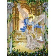 Ткань для вышивания бисером Ангел и голуби, 29х39, Конек