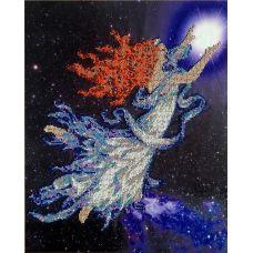 Вышивка бисером на шелке Галактика, 33x42, FeDi