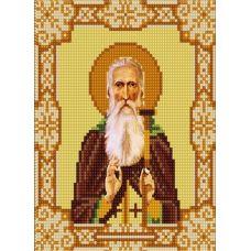 Ткань для вышивания бисером Святой Арсений, 15х18, Конек