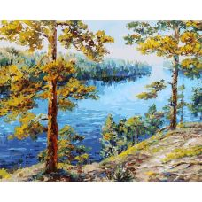 Картина по номерам Валаам, 40x50, Белоснежка