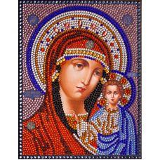 Вышивка термостразами Казанская Богородица, Преобрана