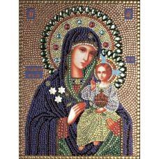 Вышивка термостразами Богородица неувядаемый цвет, Преобрана