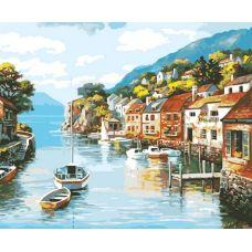 Живопись по номерам Лодочки на море, 40x50, Белоснежка