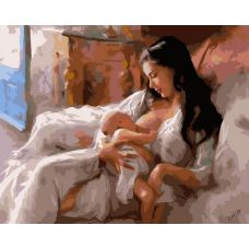 Живопись по номерам Материнство, 40x50, Белоснежка