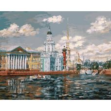 Живопись по номерам Кунсткамера в Санкт-Петербурге, 40x50, Белоснежка