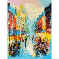 Живопись на холсте Улочки Парижа, 30x40, Белоснежка
