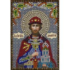 Алмазная вышивка термостразами Святой Дмитрий Донской, Преобрана