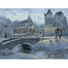 Живопись по номерам Зимние усадьбы, 40x50, Белоснежка