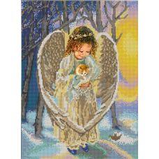 Ткань для вышивания бисером Ангел, 29х39, Конек
