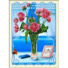 Алмазная мозаика Голос любви, 58x80, частичная выкладка, JANE