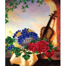 Вышивка бисером на шелке Скрипка, 29x36, FeDi