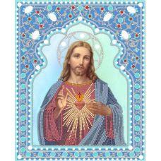 Ткань для вышивания бисером Святейшее сердце Иисуса, 20x25, Конек