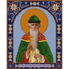 Ткань для вышивания бисером Святой Вадим, 20х25, Конек