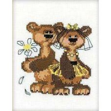 Набор для вышивания Маша+Миша, 13x16, Риолис Веселая пчёлка