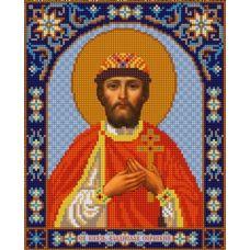 Ткань для вышивания бисером Святой Владислав, 20х25, Конек
