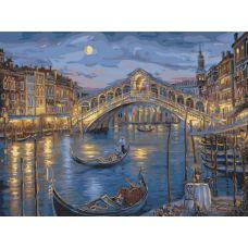 Картина по номерам Венецианская ночь, 40x50, Белоснежка