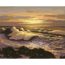 Живопись по номерам Океанский прибой, 40x50, Белоснежка