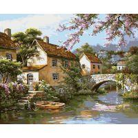 Раскраска Деревенька у канала, 40x50, Белоснежка
