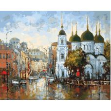 Раскраска Вид на Сухаревскую площадь, 40x50, Белоснежка