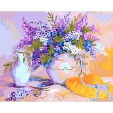 Живопись по номерам Солнечный букет, 40x50, Белоснежка