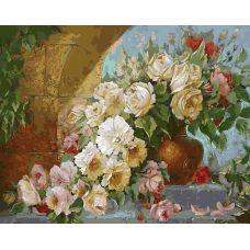 Живопись по номерам Королевский букет, 40x50, Белоснежка