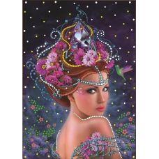 Королева цветов, набор для частичной выкладки термостразами, Преобрана