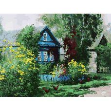 Живопись на холсте Домик в деревне, 30x40, Белоснежка