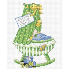 Набор для вышивания Метрика-колыбель (мальчик), 16x25, Овен