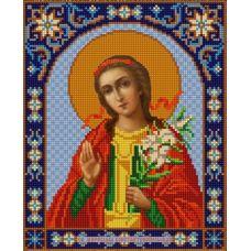 Ткань для вышивания бисером Святая Мирослава, 20х25, Конек