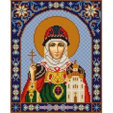 Ткань для вышивания бисером Святая Ольга, 20х25, Конек