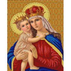 Ткань для вышивания бисером Мадонна с младенцем, 29х39, Конек