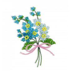 Набор для бисероплетения Цветы Незабудки, 4,5х6, Риолис