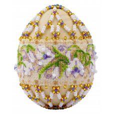 Набор для вышивания Яйцо. Подснежники, 6,5x5, Риолис Сотвори сама