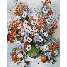Раскраска Городские цветы, 40x50, Белоснежка