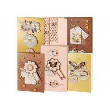 Набор для создания 6-ти открыток Бабочки, Белоснежка