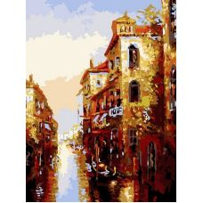 Живопись на холсте Канал в Венеции, 30x40, Белоснежка