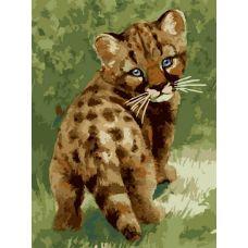 Живопись на холсте Детеныш леопарда, 30x40, Белоснежка