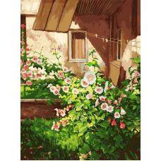 Живопись по номерам Куст шток розы, 30x40, Белоснежка