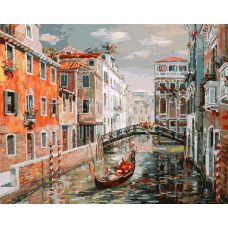 Живопись по номерам Венеция.канал Сан Джованни Латерано, 40x50, Белоснежка